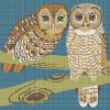 Two Owls on a Branch - Retro Design.jpg