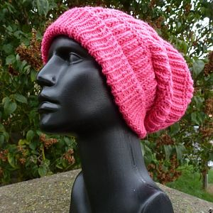 Long Beanie in pink