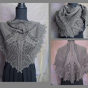 Lace & Cable Shawlette
