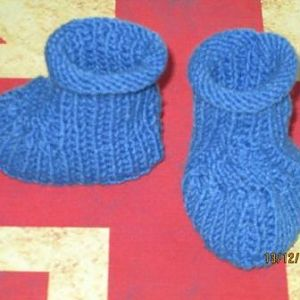 "Baby Booties ""Blue Step"""