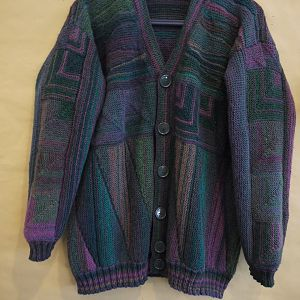 Strickjacke Stricksurfen/Patchwork Kombination