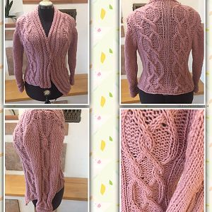 Strickjacke altrose