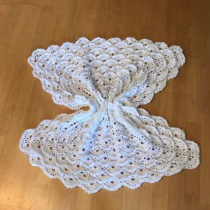 Fluffy Meringue Stitch Baby Blanket
