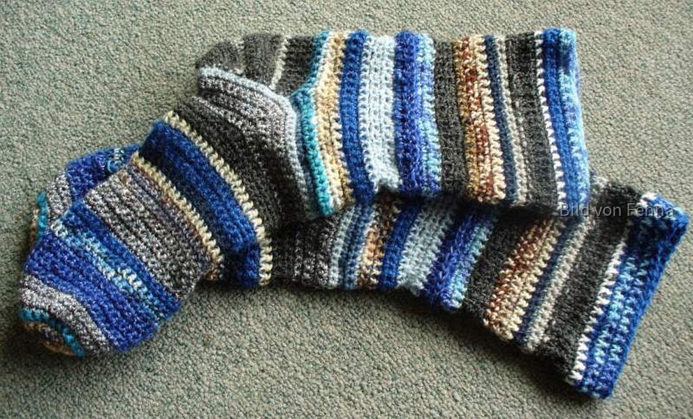 Restesocken blau